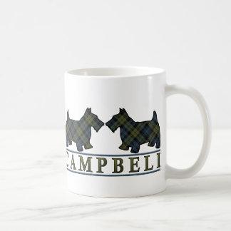 Campbell Tartan Scottish Scottie Dogs Coffee Mug