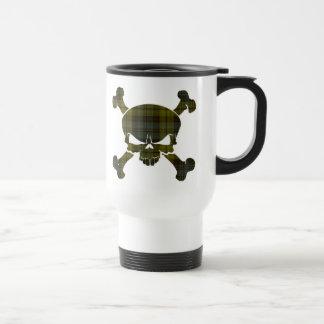 Campbell Tartan Skull No Banner Mug