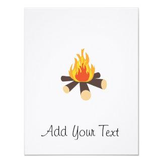 Campfire 11 Cm X 14 Cm Invitation Card