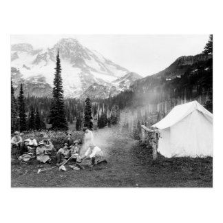 Camping at Indian Henry: 1911 Postcard