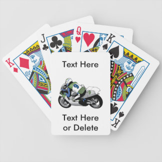 Camping In Montana Bicycle Playing Cards