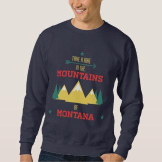 Camping In Montana Travel Hiking Mountain Sweatshirt
