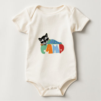 Camping Racoon Baby Bodysuit