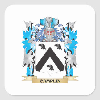 Camplin Coat of Arms - Family Crest Square Stickers