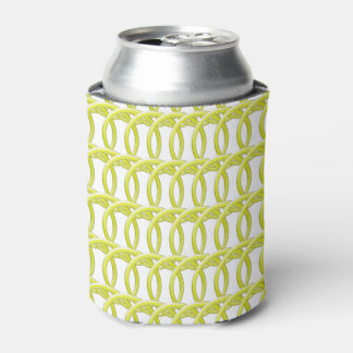 Can/Bottle Coolder - Interlocking Yellow Rings Can Cooler