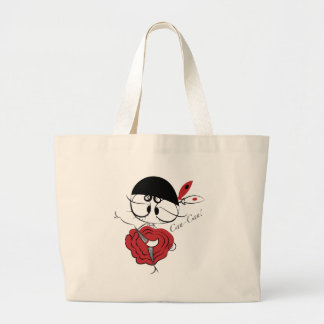 Can-Can dancer girl Large Tote Bag