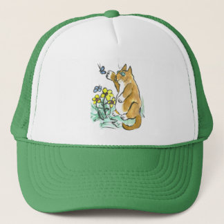 Can I Touch it? asks Fred the cat Trucker Hat