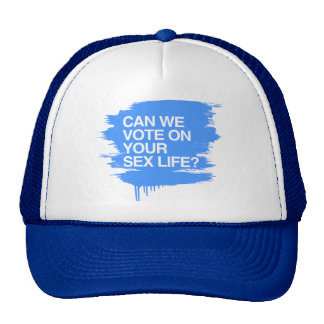 CAN WE VOTE ON YOUR SEX LIFE MESH HATS
