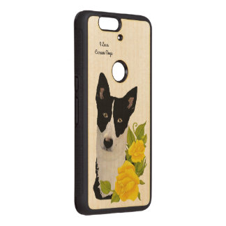 Canaan Dog and Yellow Roses Wood Nexus 6P Case