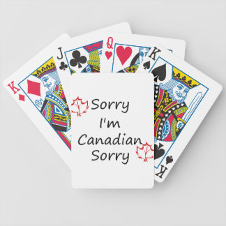 canada5 bicycle playing cards