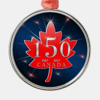 Canada 150 Birthday Celebration Maple Leaf Christmas Ornament