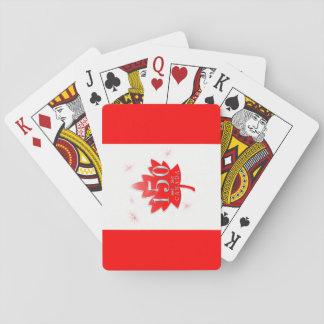Canada 150 Birthday Celebration Maple Leaf Playing Cards