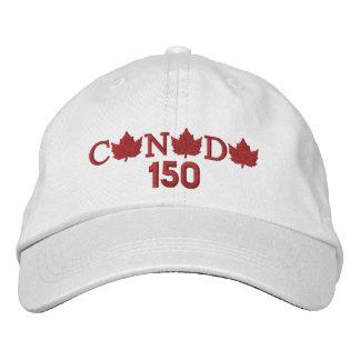 Canada 150 Embroidered White Baseball Cap