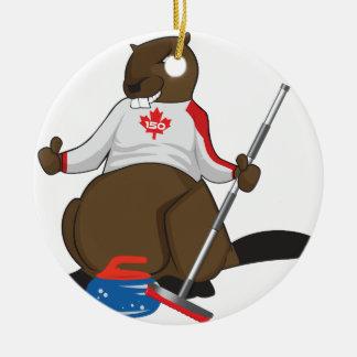Canada 150 in 2017 Beaver Curling Main Round Ceramic Decoration