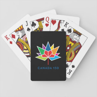 Canada 150 Official Logo - Multicolor and Black Playing Cards