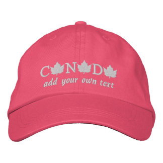 Canada 150 Pink Baseball Cap - Add Your Own Text