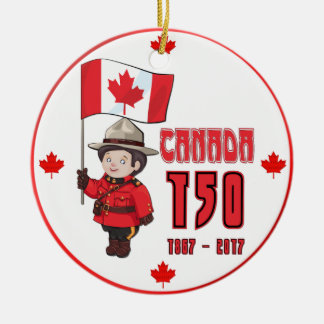 Canada 150 Years Anniversary Christmas Ornament