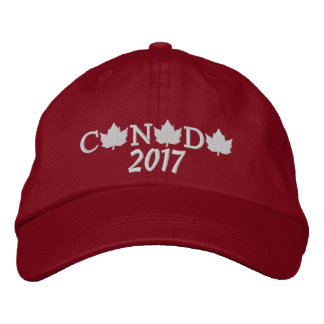 Canada 2017 Embroidered Red Baseball Cap