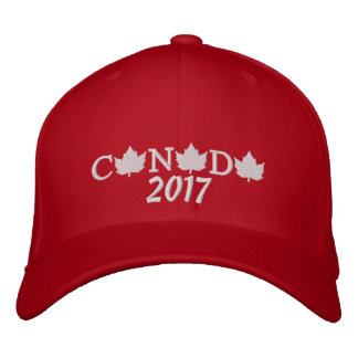 Canada 2017 Embroidered Red Baseball Cap 2