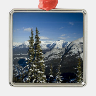Canada, Alberta, Banff. Views of the Bow Valley Christmas Ornament