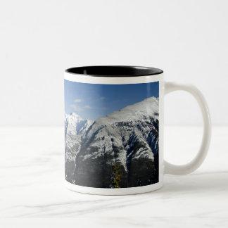 Canada, Alberta, Banff. Views of the Bow Valley Two-Tone Coffee Mug