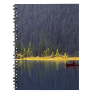 Canada, Alberta, Baniff National Park. Two boys Notebook