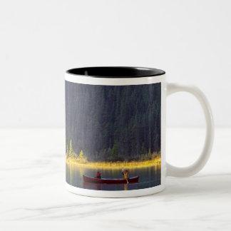 Canada, Alberta, Baniff National Park. Two boys Two-Tone Coffee Mug