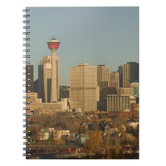 Canada, Alberta, Calgary: City Skyline from 2 Spiral Notebooks