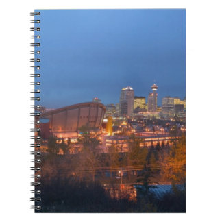 Canada, Alberta, Calgary: City Skyline from 4 Notebooks