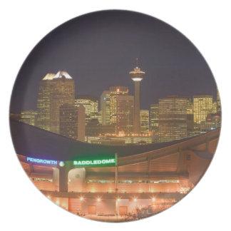 Canada, Alberta, Calgary: City Skyline from Party Plates