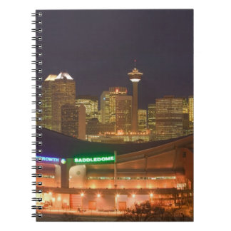 Canada, Alberta, Calgary: City Skyline from Spiral Notebook