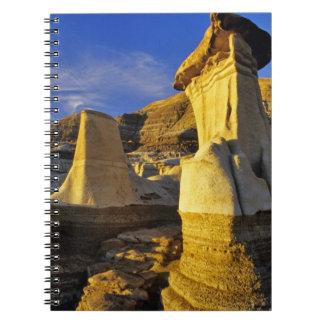 Canada, Alberta, Drumheller. Hoodoos. Spiral Notebook
