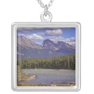 Canada, Alberta, Jasper National Park. Large Silver Plated Necklace