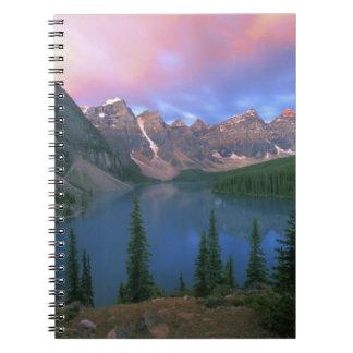 Canada, Alberta, Lake Moraine at Dawn, Banff Notebook