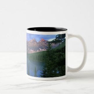Canada, Alberta, Lake Moraine at Dawn, Banff Two-Tone Coffee Mug