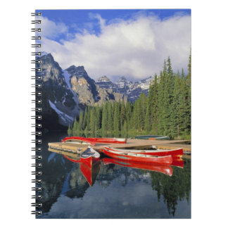 Canada, Alberta, Moraine Lake. The glassy Spiral Note Books