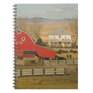 Canada, Alberta, Pincher Creek: Red Barn & Ranch Note Books