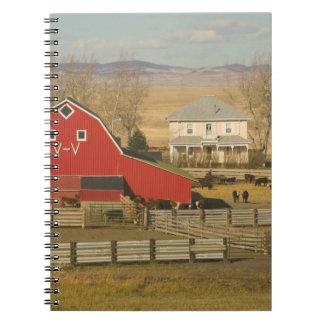 Canada, Alberta, Pincher Creek: Red Barn & Ranch Notebooks