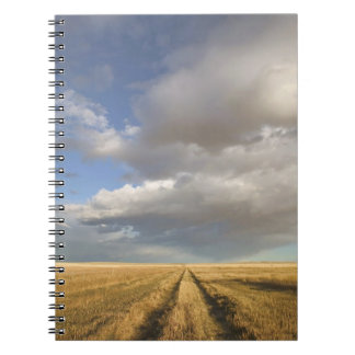 Canada, Alberta, Stand Off: Landscape with Spiral Note Book