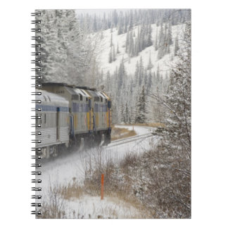 Canada, Alberta. VIA Rail Snow Train between Spiral Note Books