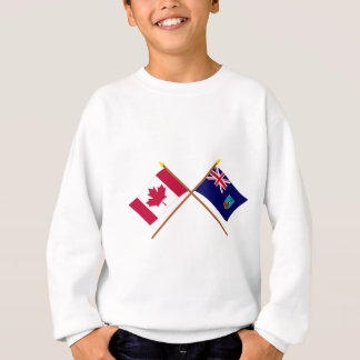 Canada and Montserrat Crossed Flags Sweatshirt