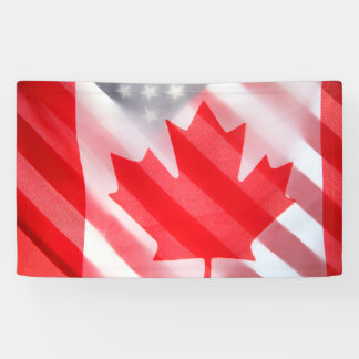 Canada and USA flags Banner