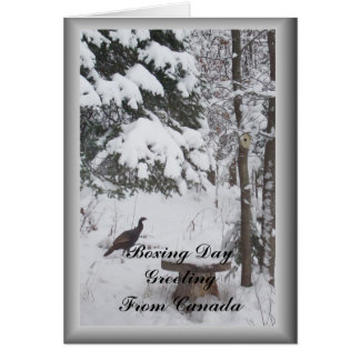 Canada Boxing Day Greeting-Turkey Framed Card