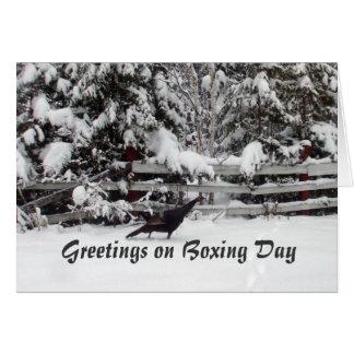 Canada Boxing Day Greeting Turkey Greeting Card