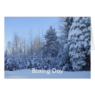 Canada Boxing Day -Winter Tree Scene Greeting Card