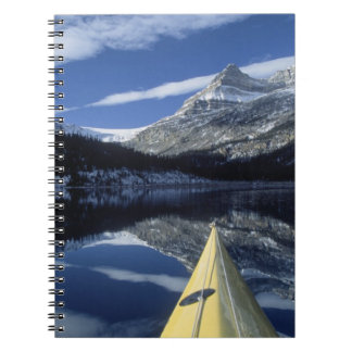 Canada, British Columbia, Banff. Kayak bow on Note Book