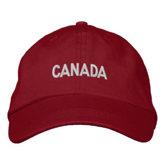 Canada Canadian North American Country Patriotic Embroidered Cap