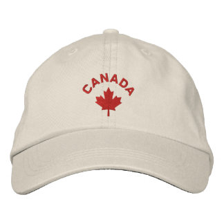 Canada Cap - Red Maple Leaf Hat Embroidered Cap