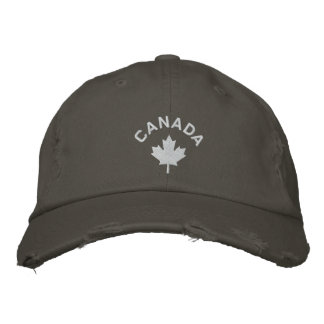 Canada Cap - White Maple Leaf Hat Embroidered Hats