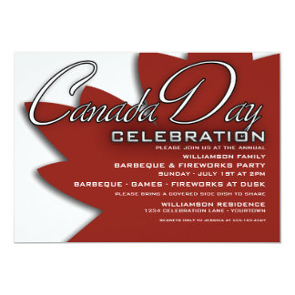 Canada Day Celebration Invitations